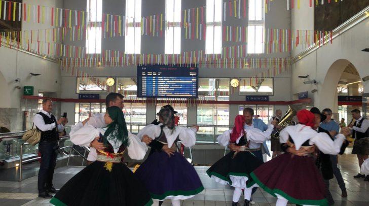 Am Villacher Hauptbahnhof wurde aufgetanzt!