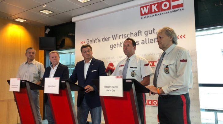 Bei der Pressekonferenz wurde Stellungsnahme zur aktuellen Barbershop Situation in Kärnten genommen.