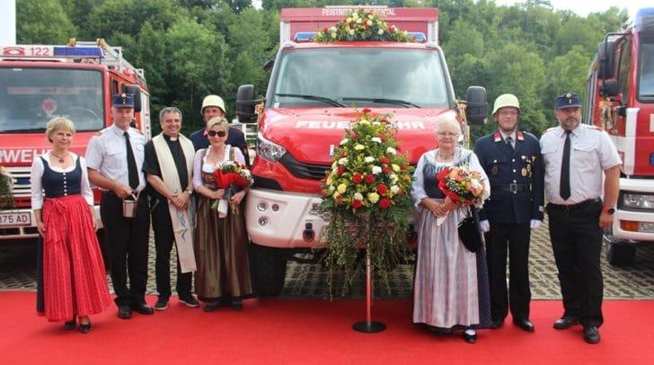 Die Feuerwehr Feistritz im Rosental lud zur Fahrzeugsegnung.