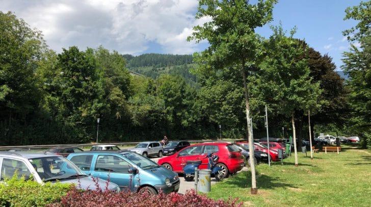 Auf diesem Parkplatz am Rande des Waldes soll es regelmäßig zu öffentlichem Geschlechtsverkehr kommen.