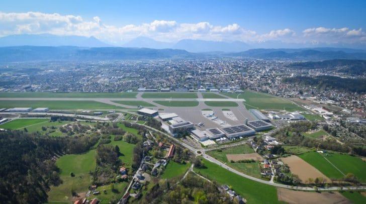 """Rund um den Flugbetrieb soll die """"Aviation City Klagenfurt"""" entstehen."""