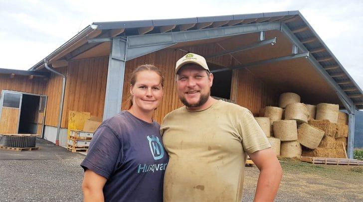 Die Landwirte Kathrin und Josef Oschounig möchten sich bei den zahlreichen Spendern bedanken.