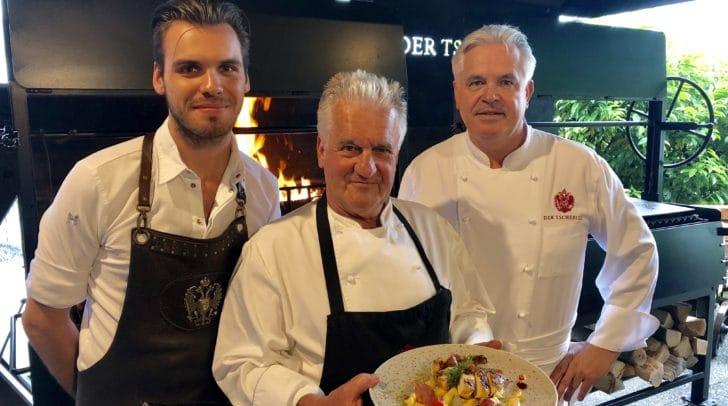 """Von links: Peter Heider-Tschemernjak, Sepp"""" Viehhauser und Hannes Tschemernjak."""