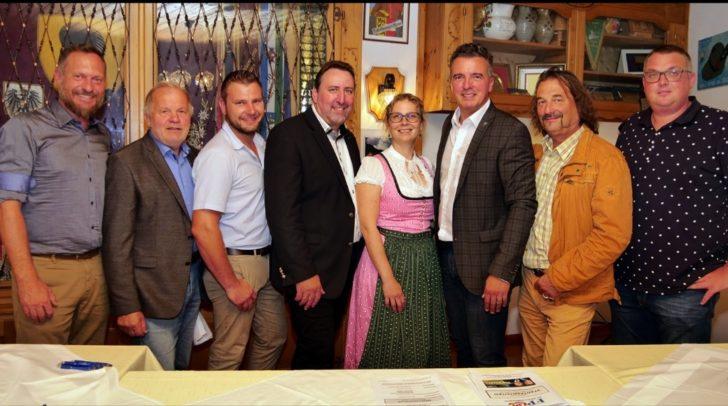 v.l.n.r.: Robert Seppele, Roland Zellot, Patrick Bock, Erwin Baumann, Katrin Nießner, Gernot Darmann, Kurt Petritsch, Gernot Schick.