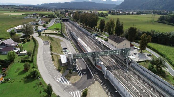 Der Bahnhof in Grafenstein.