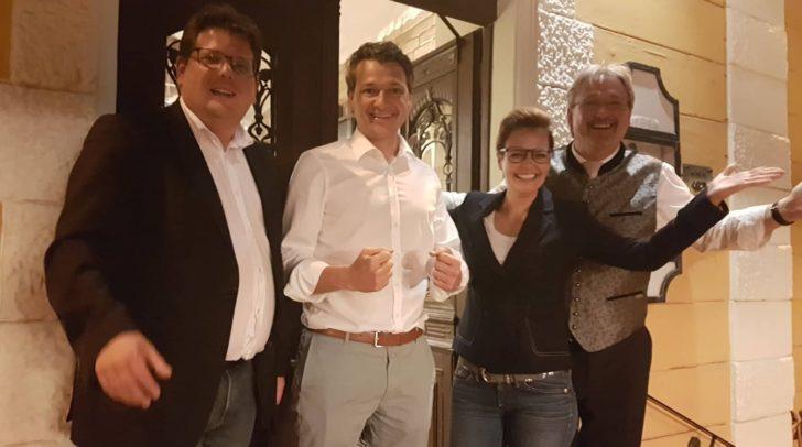 Riesenfreude über Platz 1 in Villach: Christian Pober, Peter Weidinger, Katharina Spanring und Christian Struger