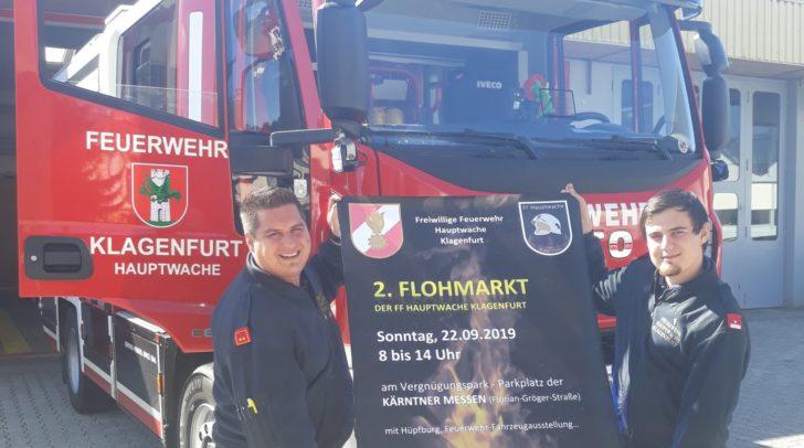Ortsfeuerwehrkommandant OBI Franz Socher (li) und Zugskommandant BM Robert Bilic (re) freuen sich auf den Flohmarkt.