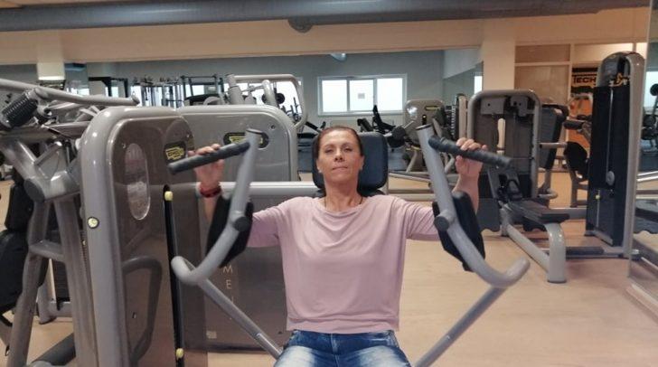 Helga Poschinger trainiert fleißig mit!