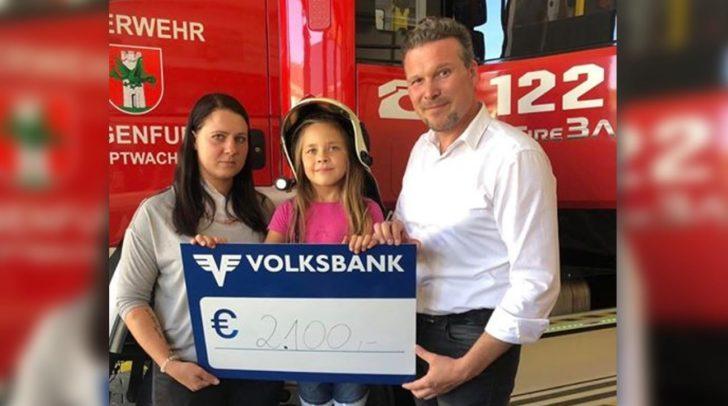 Wolfgang Germ spendete den beiden 2.100 Euro. Auch die FF Hauptwache Klagenfurt lässt der Familie eine Spende zukommen.