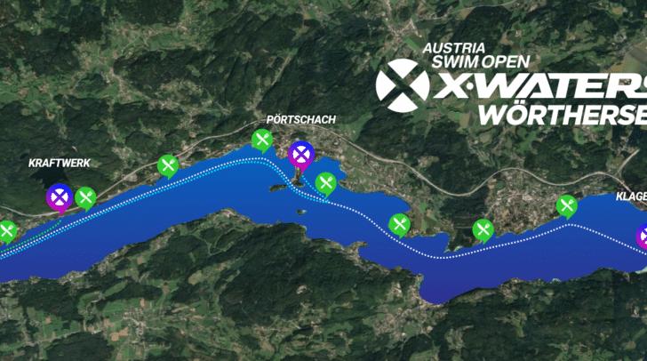 Neben der 17,5 Kilometer langen Querung des Sees kann auch über 10 Kilometer (Start in Pörtschach), 3 Kilometer (Start beim Schaukraftwek) und 0,5 Kilometer (Velden) gestartet werden.