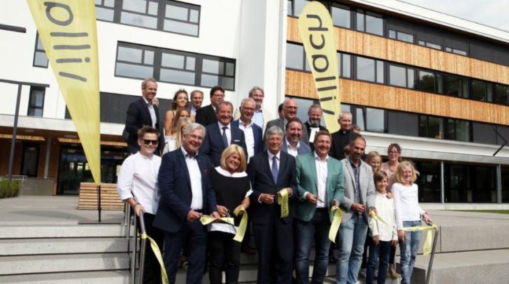LH Peter Kaiser, Bgm. Günther Albel, Landtagspräsident Reinhart Rohr, StR. Harald Sobe, Vzbgm.in Gerda Sandriesser, Dir. Michael Eder.