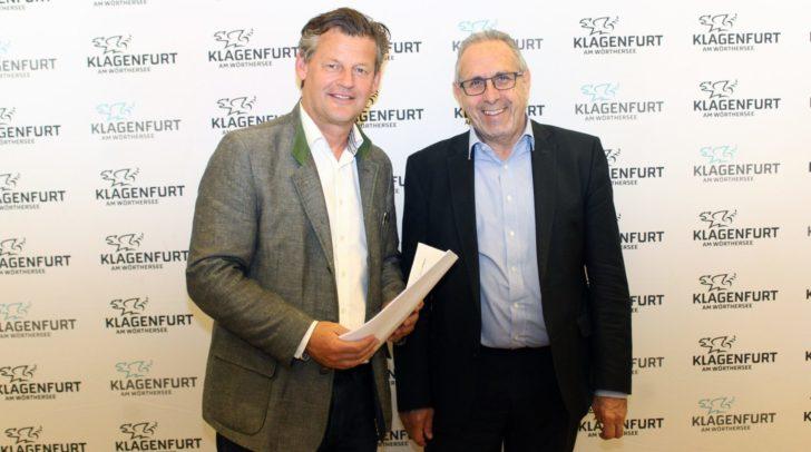 Verkehrsreferent StR Christian Scheider und Verkehrsplaner Dr. Kurt Fallast (PLANUM) präsentierten bei einem Pressegespräch Erkenntnisse zum Verkehrsmodell Waidmannsdorf.