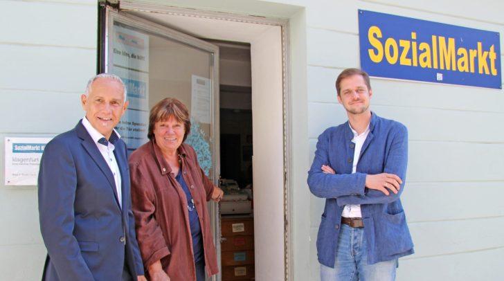 Vizebgm. Jürgen Pfeiler, Stefan Mauthner und SOMA-Chefin Liselotte Suette.