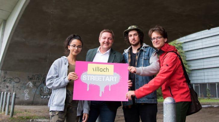 An der Unteren Draubrücke ist die neue, legale Fläche für Street Art geschaffen worden. Bürgermeister Günther Albel fördert diese junge, urbane Kunstform.