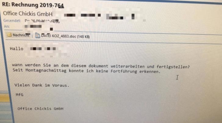 Achtung Phishing-Mail: Dieses Schreiben wird aktuell von Betrügern an die Kärntner und Kärntnerinnen versendet.