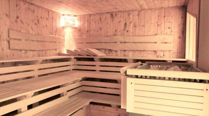 In der hauseigenen Sauna.