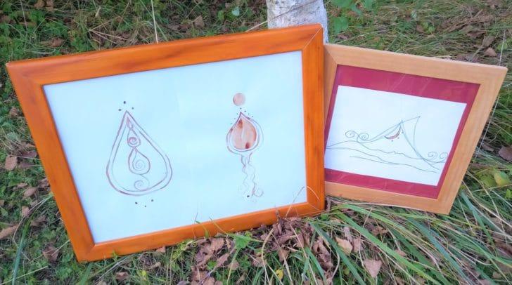 Stefanie malt mit ihrem Menstruationsblut Kunstwerke.