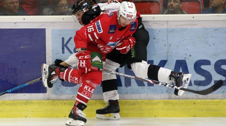 Patrick Harand (KAC) gegen David Aslin (Graz).