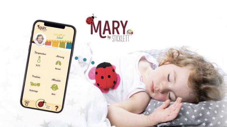 Der Marienkäfer sendet Signale an die App der Eltern.