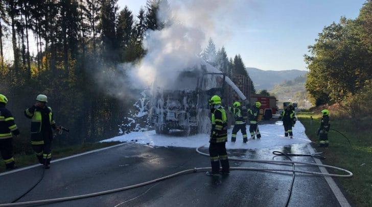 Mitte Oktober 2019 hat auch in Völkermarkt ein LKW gebrannt.