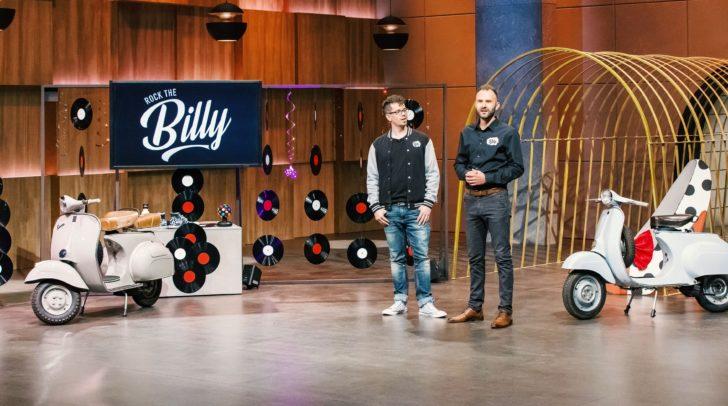 Das Rockthebilly-Team: Rene Taumberger und David Pirker (v.li.) in der VOX Sendung
