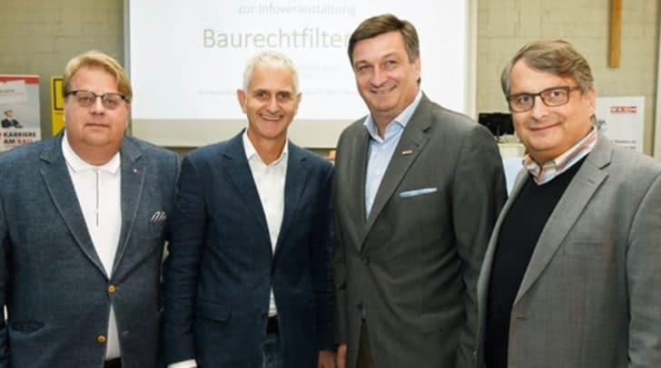 Präsentierten das überarbeitete Online-Portal: Landesinnungsmeister Robert Rauter, Johannes Hairitsch von der Landesregierung, WK-Präsident Jürgen Mandl und Projektleiter Hans Steiner.