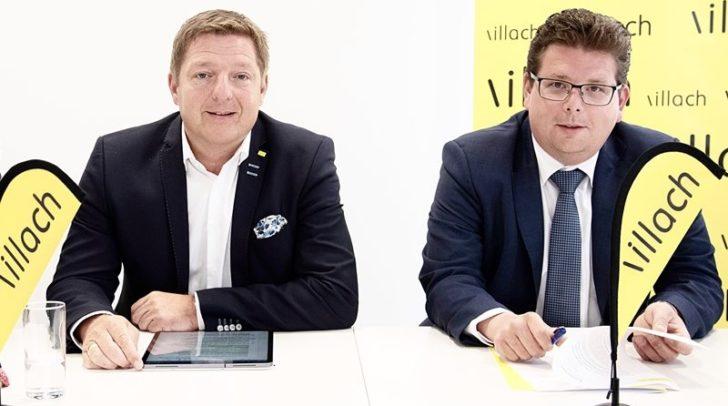 Bürgermeister Günther Albel und Stadtrat Christian Pober sprechen sich gegen das geplante Spielcasino am Hans-Gasser-Platz aus. (Archivbild)