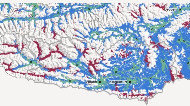Hier zeigt sich, wie gut die Gemeinden in Kärnten mit den Öffis verbunden ist.