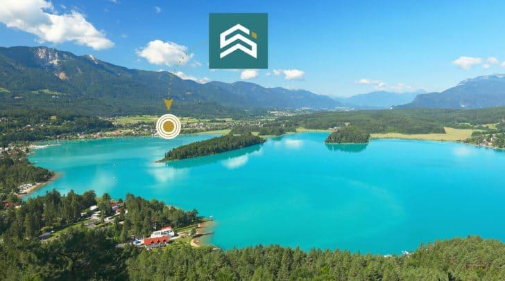 Das Appartementhaus liegt nahe dem Faaker See und bietet eine wundervolle Naturlandschaft.