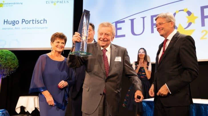 """Preisträger in der Kategorie """"Bewusstseinsbildung – Europe on my mind"""" war der 92-jährige Journalist Hugo Portisch."""