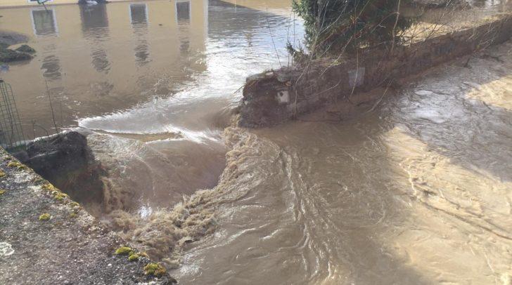Der Alexejew-Hof in Gurk wurde überflutet.