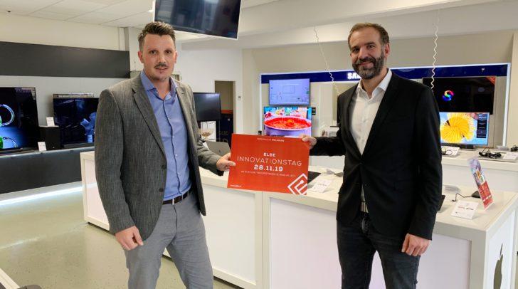 (von links): Georg Santler (Vertriebsleiter) und Gert Schwanter (Geschäftsleitung) freuen sich auf den 1. Innovationstag