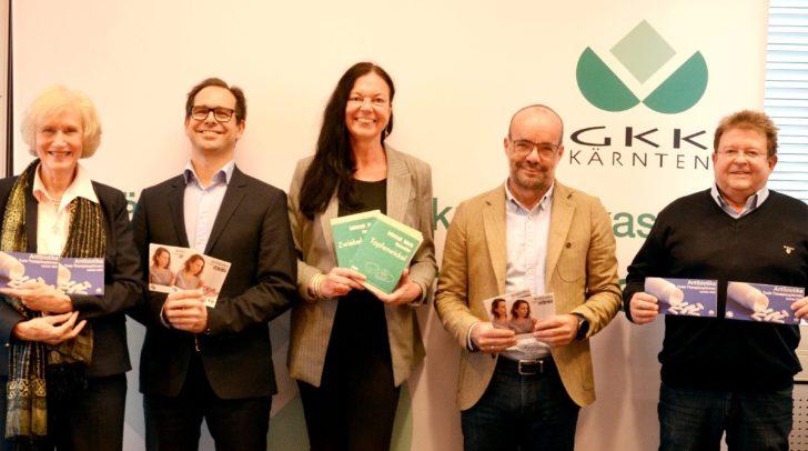 OÄ Dr.in Agnes Wchsler-Fördös, Dr. Ulrich Radda, Dr.in Maria Korak-Leiter,  Dkfm. Maximilian Miggitsch, OA Dr. Ulrich Zerlauth (v.l.).