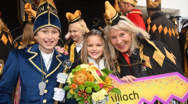 Prinzessin Nahla I., Runda (10), und Prinz Gaudelius LIV., Philipp Putz (11), bilden das neue Kinderprinzenpaar der Villacher Faschingsgilde.