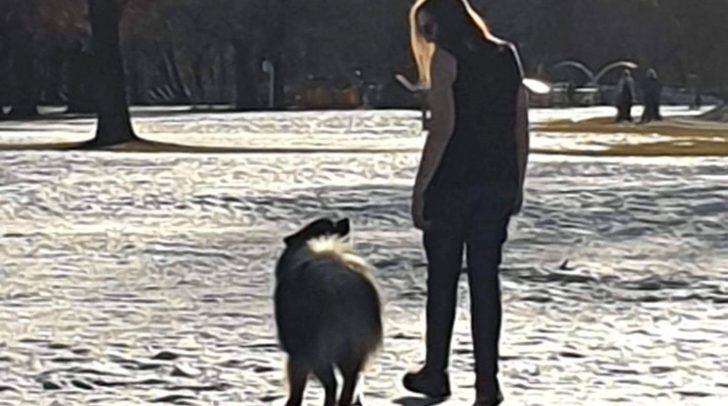 Verena war am Abgrund und musste mit ihrem Hund den eisigen Temperaturen trotzen.