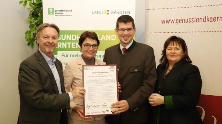 v.l.n.re.: Franz Wutte, Beate Prettner, Martin Gruber und Barbara Wakonig.
