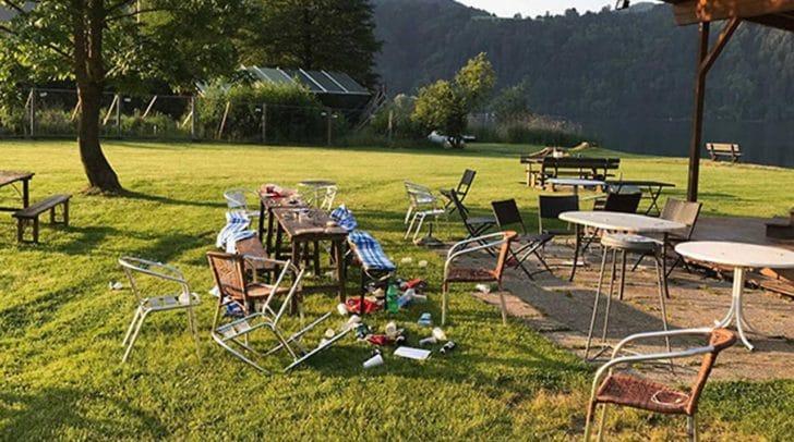 Der 57-Jährige verwüstete auch den Garten, wo die Maturaparty im Juni stattfand.