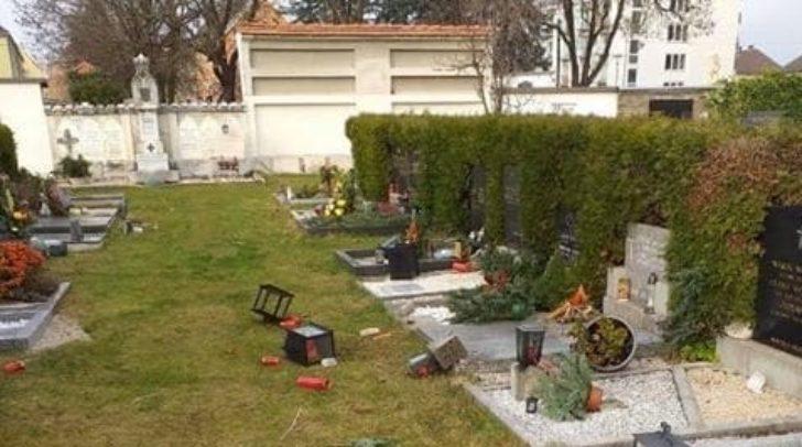 Das Bild wurde gestern am Friedhof aufgenommen.