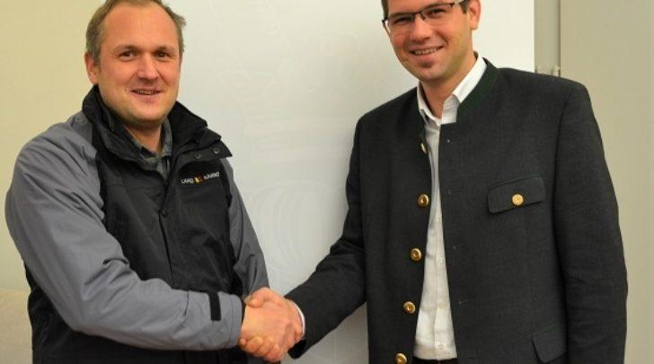 Wolfsbeauftragter Roman Kirnbauer und Jagdreferent LR Martin Gruber