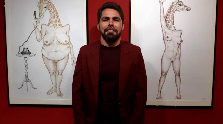 """Unter dem Motto """"Bis zum Hals"""" präsentierte der Künstler Daniel Torres seine neuesten Werke."""