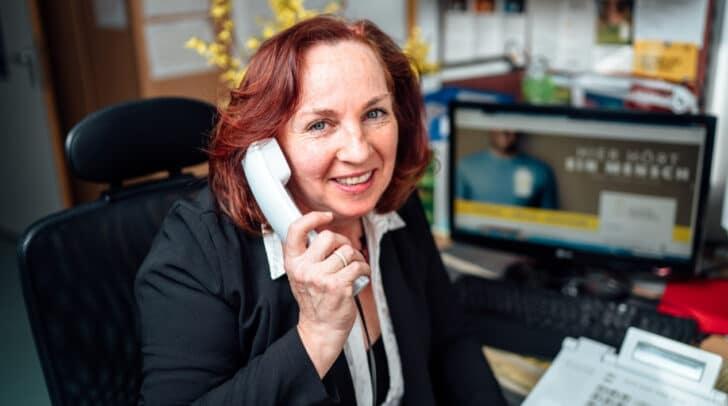 Silvana Fischer von der TelefonSeelsorge der Caritas hat ein offenes Ohr für Sorgen und Probleme.