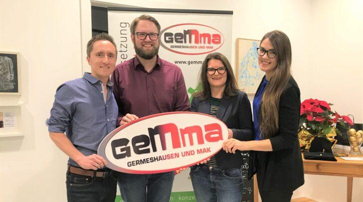 Der wiedergewählte Vorstand: vl Stefan Mak, Marc Germeshausen, Birgit Kandutsch und Eva Kobin.