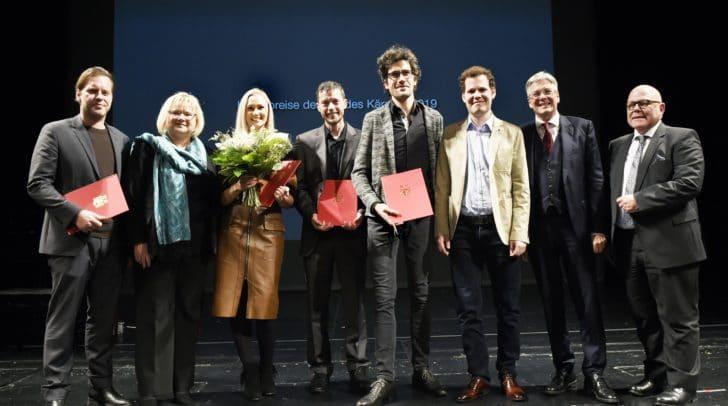 v.l.n.r.: David Hofer, Anke Bosse, Olivia Kada, Stefan Rass, Duo klak, Peter Kaiser, Igor Pucker