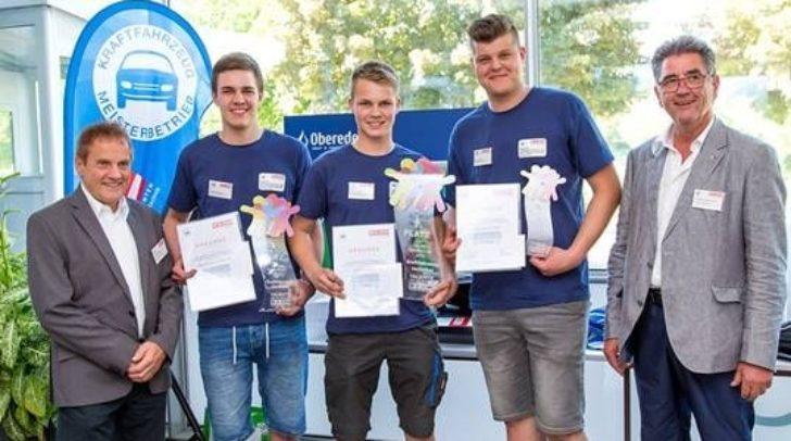 Die Sieger beim Landeswettbewerb der KFZ Techniker im Juni 2019 in Villach.