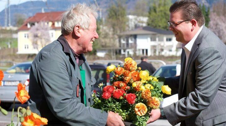 Marktreferent Stadtrat Christian Pober freut sich auf ein buntes Jahresprogramm am Wochenmarkt.