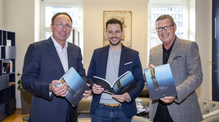Am Bild v.l.: Markus Gruber, Landesrat Sebastian Schuschnig und Alfons Helmel.