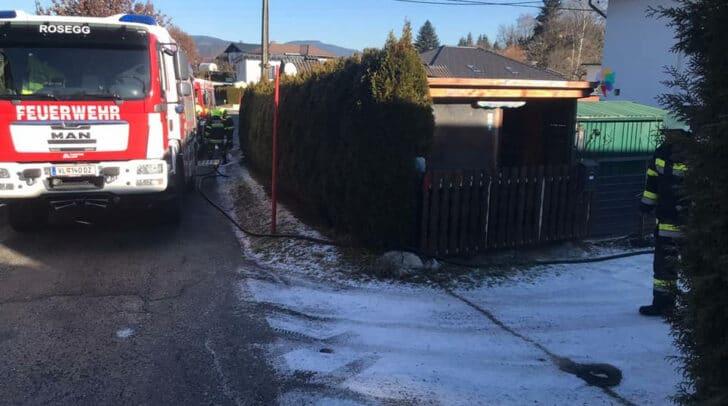 Der Brand wurde schließlich durch das Zusammenwirken der freiwilligen Feuerwehren gelöscht.