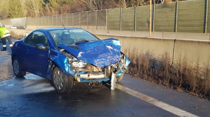 Unfall auf der A2 Südautobahn.