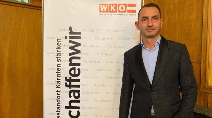 Paul Perkonig, Fachgruppenobmann der Kärntner Immobilien und Vermögenstreuhändler beim Neujahrsauftakt 2020 in der Wirtschaftskammer Kärnten.