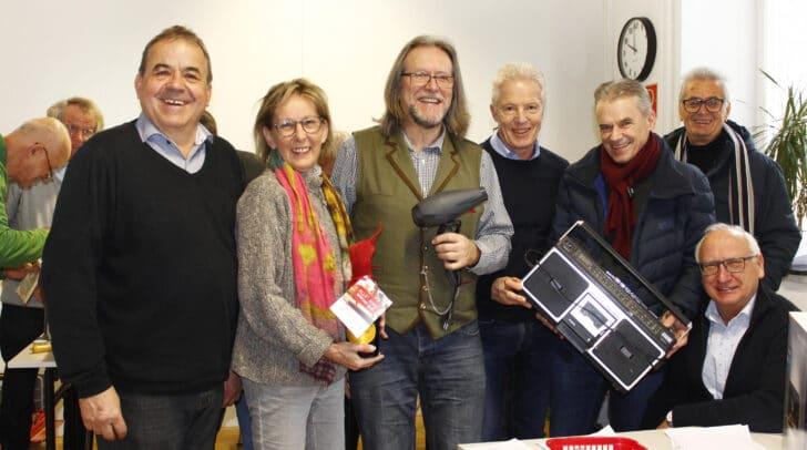 GR Siegfried Nagele, Renate Schlatter, Klaus Zerche, Vzbgm. Helmut Steiner, BGM Ferdinand Vouk, GR Walter Kupper und GR Josef Korejmann